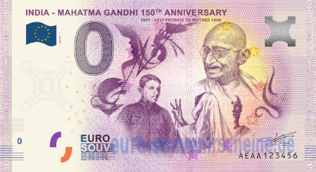AEAA-2019-1 INDIA - MAHATMA GANDHI 150th ANNIVERSARY 1869-2019 PROMISE TO MOTHER 1888