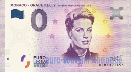UEMA-2018-1 MONACO - GRACE KELLY 90th BIRTH ANNIVERSARY 1929 - 2019